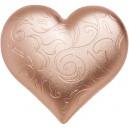 Mincovní skvost ve tvaru srdce zušlechtěný růžovým zlatem - originální romantický dárek