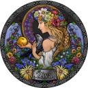 Živa - slovanská bohyně zdraví a plodností na atraktivní kolorované stříbrné minci
