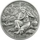 Věhlasná starověká bohyně Afrodita na atraktivní a detailně zpracované stříbrné minci s vysokým reliéfem