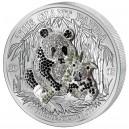 Exkluzivní mince Pavé (3D efekt) s vyobrazením pandy osázená 311 českými drahokamy