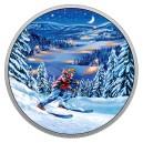 Fascinujicí noční lyžování v kanadské přírodě - speciální luminscenční efekt