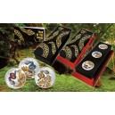Exkluzivní sada mincí Pavé s vyobrazením hadů osázených českými drahokamy