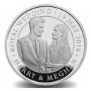 Královská svatba prince Henryho a Megahn Markle na atraktivní stříbrné minci