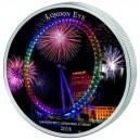 Londýnské oko - věhlasná ikona s ultrafialovým osvětlením - mincovní unikát