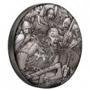 Vikingové - věhlasní válečníci na atraktivní stříbrné minci s vysokým reliéfem