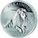 Lev africký – symbol africké fauny - unikát emitovaný 5 zeměmi