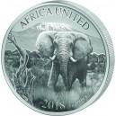 Slon africký – symbol africké fauny - unikát emitovaný 6 zeměmi
