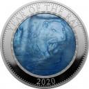 Lunární rok myši 2020 - atraktivní stříbrná mince s modrou perletí