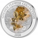 Růže (3D) symbol lásky a krásky - umělecký mincovní skvost