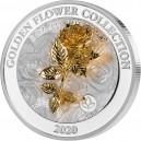 Růže (3D) symbol lásky a krásy - umělecký mincovní skvost