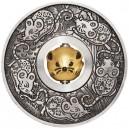 Rok myši v lunárním kalendáři na atraktivní stříbrné minci s rotujícím středem